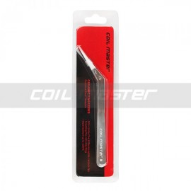 Coil Master Ceramic Tweezer BENT Stainless