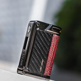 LOST VAPE Paranormal DNA75c Gun Metal Carbon Fiber Red Raptor